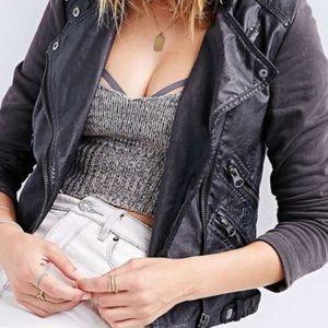 Silence + Noise faux leather jacket